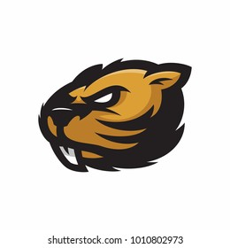Animal Head - Beaver - vector logo/icon illustration mascot