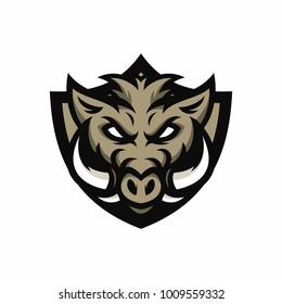 Animal Head - Boars - vector logo/icon illustration mascot