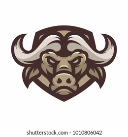 Animal Head - Buffalo - vector logo/icon illustration mascot