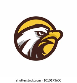 Animal Head - eagle - vector logo/icon illustration mascot