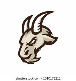 Animal Head - goat - vector logo/icon illustration mascot