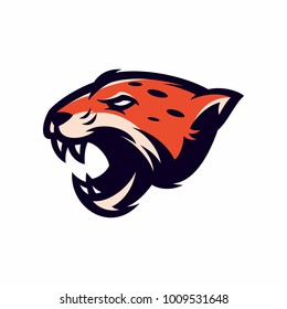 Animal Head - Jaguar - vector logo/icon illustration mascot