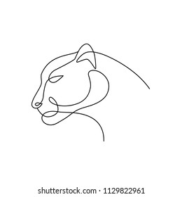 Animal Head line art drawing. Logo, icon, label