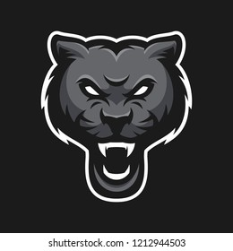 Animal head mascot gaming logo