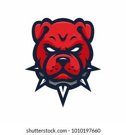 Animal Head - Pitbulls - vector logo/icon illustration mascot