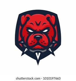 Animal Head - Pitbulls - vector logo/icon illustration mascot