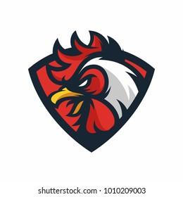 Animal Head - Rooster - vector logo/icon illustration mascot