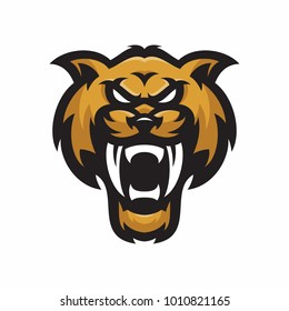 Animal Head - sabertooth - vector logo/icon illustration mascot