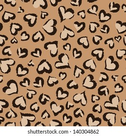 animal hearts seamless background