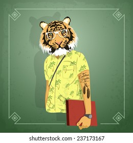 Animal hipster boy