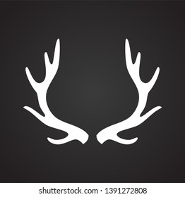 Animal Horn icon on background for graphic and web design. Simple vector sign. Internet concept symbol for website button or mobile app