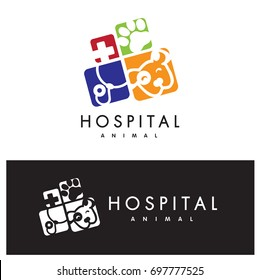 Animal hospital logo vector