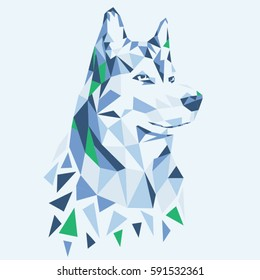 Animal husky illustration, typography, tee shirt graphics, vectors