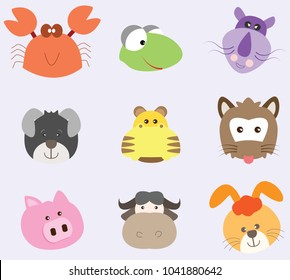 Animal icon cute in vector