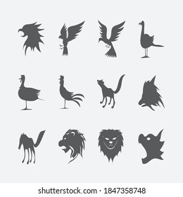 The animal icon is very suitable as a zoo animal logo or a pet seller logo. icon is made of vectors that are easily edited by editors