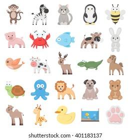 Animal icons set.