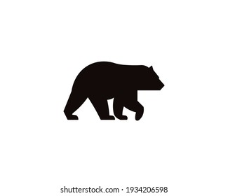 animal illustration, bear illustration with solid color
