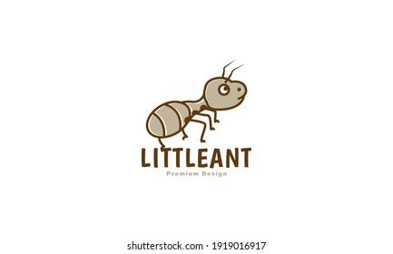 animal insect little ant cute cartoon brown logo design vector icon symbol illustration