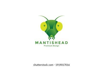 animal insect mantis head abstract logo design vector icon symbol illustration