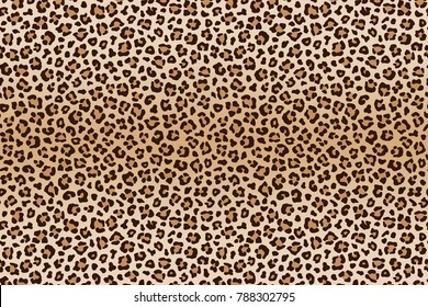 Animal leopard brown beige texture. Vector