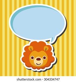 animal lion cartoon theme elements