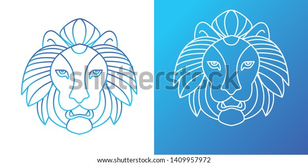Animal Lion Outline Drawing Animal Logo Stock Vector Royalty Free 1409957972 Safari banner, jungle printable party banner, happy birthday pennant banner, baby shower banner, animal print banner, photo prop diy printable banner kit contains: shutterstock