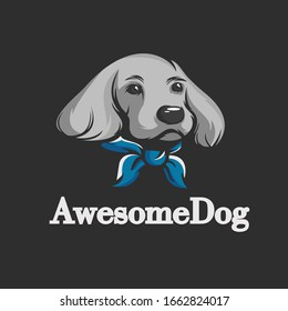 Animal logo with awesome dog template