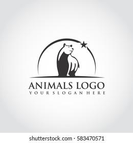 Animal Logo Template. Bear image. Vector Illustrator Eps.10