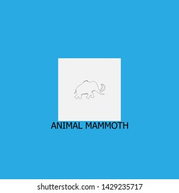 animal mammoth icon sign signifier vector