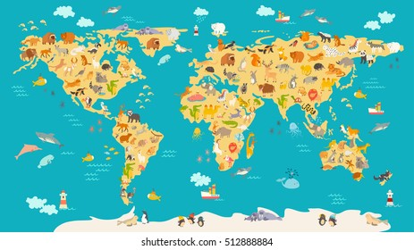 Kids World Map Images Stock Photos Vectors Shutterstock