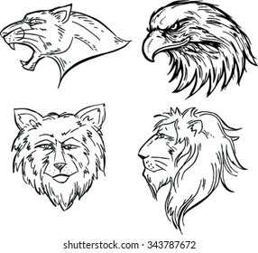 Animal Mascot Vector Logo Set