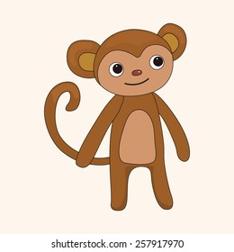 animal monkey cartoon theme elements