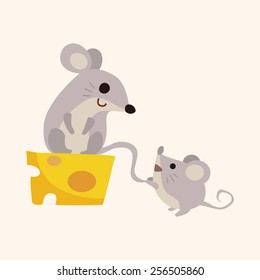 animal mouse cartoon theme elements