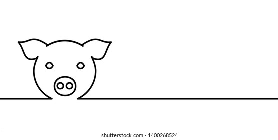 Animal nature swine hog pig pigs piglets line drawing pattern Vector fun funny sign signs icon icons symbol farm famer farming breeding safe Ecological Ecologic Chinese New Year logo silhouette 豬