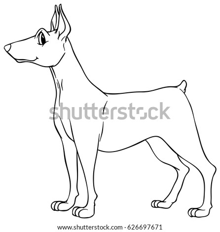 Animal Outline Dog Illustration Stock Vector Royalty Free