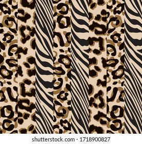 Animal patch pattern seamless.  Design for fabric, wallpaper, wrapping, background.