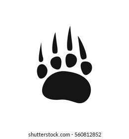 animal paw icon illustration isolated vector sign symbol