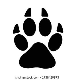 Animal paw Isolated Vector icon which can easily modify or edit