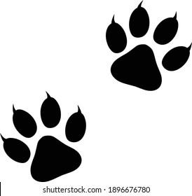 Animal Paw Print Vector illustration