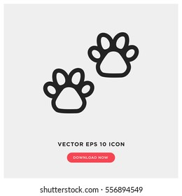 animal paw vector icon. Modern, simple flat vector illustration for web site or mobile app