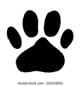 animal paws print. abstract vector illustration
