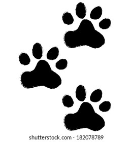animal paws. vector illustration