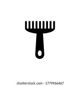 Animal Pet Comb, Puppy Dog Grooming. Flat Vector Icon illustration. Simple black symbol on white background. Animal Pet Comb, Puppy Dog Grooming sign design template for web and mobile UI element
