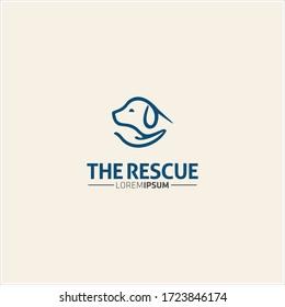 animal pet logo design template
