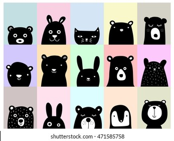 Animal posters, cute wall art pictures
