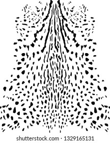 Animal print background. Feline fur vector illustration.