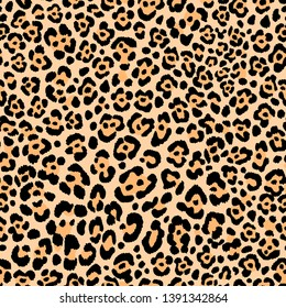 Animal Print leopard skin seamless vector pattern  wild safari background cheetah fur fabric