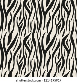 Animal print, zebra texture background black and white colors eps10