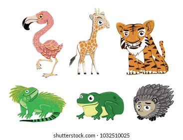 animal set collection. animal illustration.