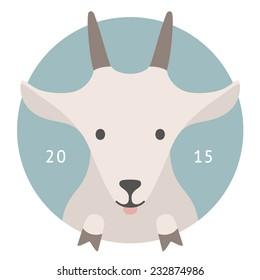 Animal set. Portrait in flat graphics | Goat